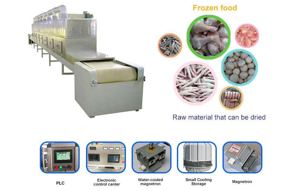Microwave thawing equipment for meat