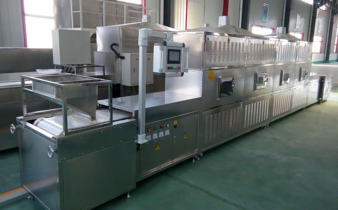 Continuous microwave thawing equipment
