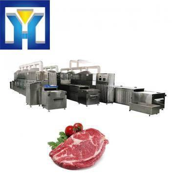 50KW Tunnel Microwave Frozen Food Thawing Machine Meat Thawing Machine